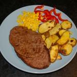 Løvbiff og poteter