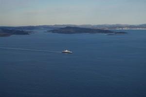Boknafjorden med Kårstø i bakgrunnen Foto:karlingestumo